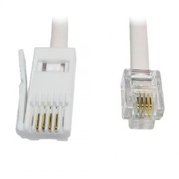 56k Fax/Data - 4 wire - Modem to BT to RJ11 Cable 5m