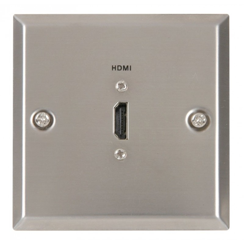 HDMI Steel Wall Plate Mount Faceplate HDMI Socket