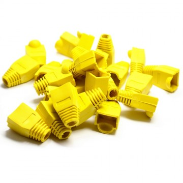 Boot for RJ45 Ethernet Network Cables YELLOW - Pack of 100 Boots
