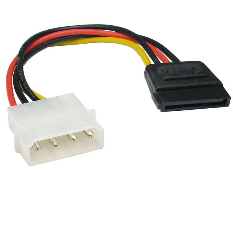 Molex LP4 4 pin to SATA 15 pin Power Adapter Cable Lead