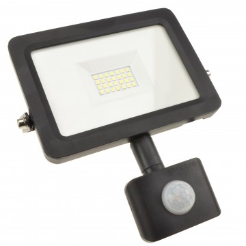 Outdoor Security LED Floodlight 20W with PIR Day/Night/Motion...
