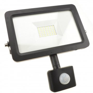 Outdoor Security LED Floodlight 30W with PIR Day/Night/Motion...