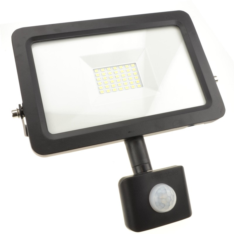 Outdoor Security LED Floodlight 30W with PIR Day/Night/Motion Sensor