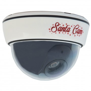 Santa/Father Christmas XMAS Fake Dummy CCTV Camera with LED Light