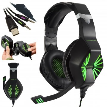 Head-Bytes HQ Stereo Gaming Headset with Microphone for PC...