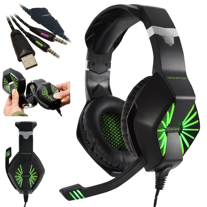 Head-Bytes HQ Stereo Gaming Headset with Microphone for PC Xbox PS4