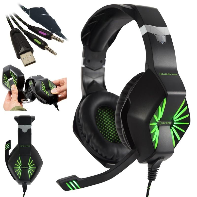 Tête Bytes Hq Stéréo Gamer Casque Avec Microphone Pour Pc Xbox Ps4
