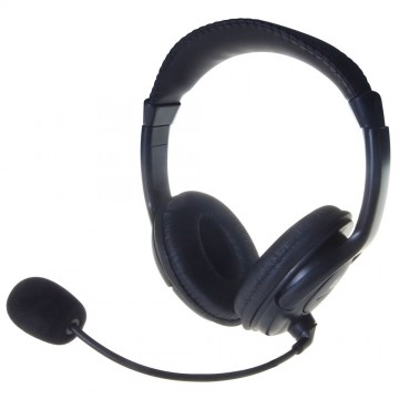 Computer Gear Stereo Padded Headphones and Flexible Microphone