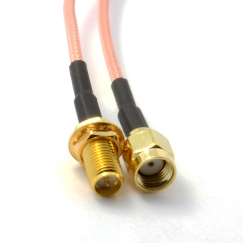 WiFi Antenna EXTENSION Cable/Lead Wireless RP SMA 15m
