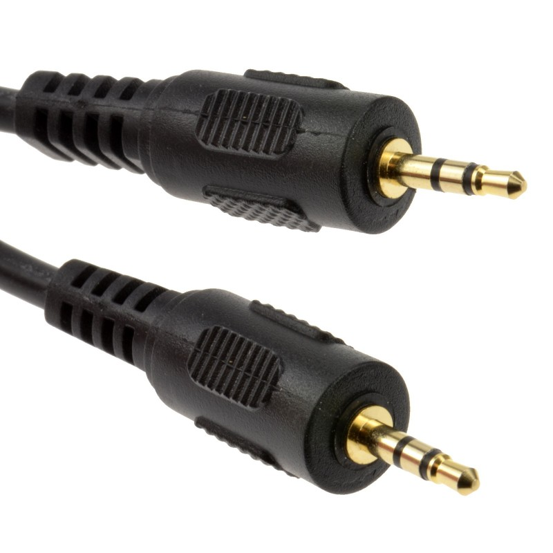 2.5mm GOLD Stereo Jack to 2.5 mm Jack Audio Cable Lead 3m