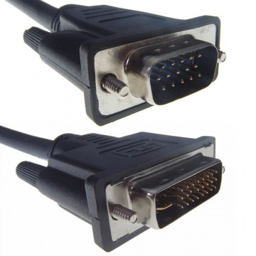 DVI-I [DIGITAL+ANALOGUE] (24+5) to VGA HD15 Male Cable 5m