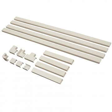 Cable Management Tidy Trunking Conduit Kit 4 x 800mm 4 x 200mm...