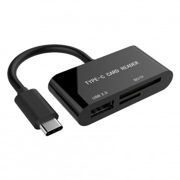 USB 3.1 Type C to SDXC Combo Micro SD / TF / SD Card Reader & USB