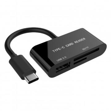 USB 3.1 Type C to SDXC Combo Micro SD / TF / SD Card Reader & USB