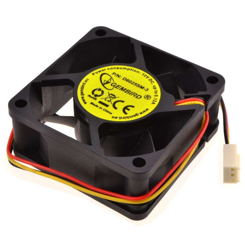 Case Fan for PC Tower 60mm x 60 x 25mm 12V 0.12A Sleeve Bearing