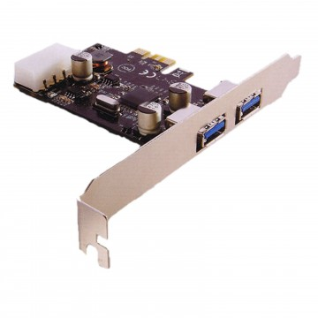 USB 3.0 SuperSpeed 2 Ports PCI Express PCIE Card Adapter