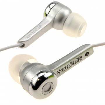 In-Ear Isolation Stereo Music Headphones Iphone/Android Phone Silver