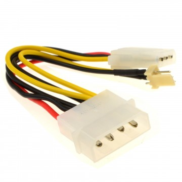 Kenable Power Converter Cable 4 Pin Lp4 Molex Female To 3
