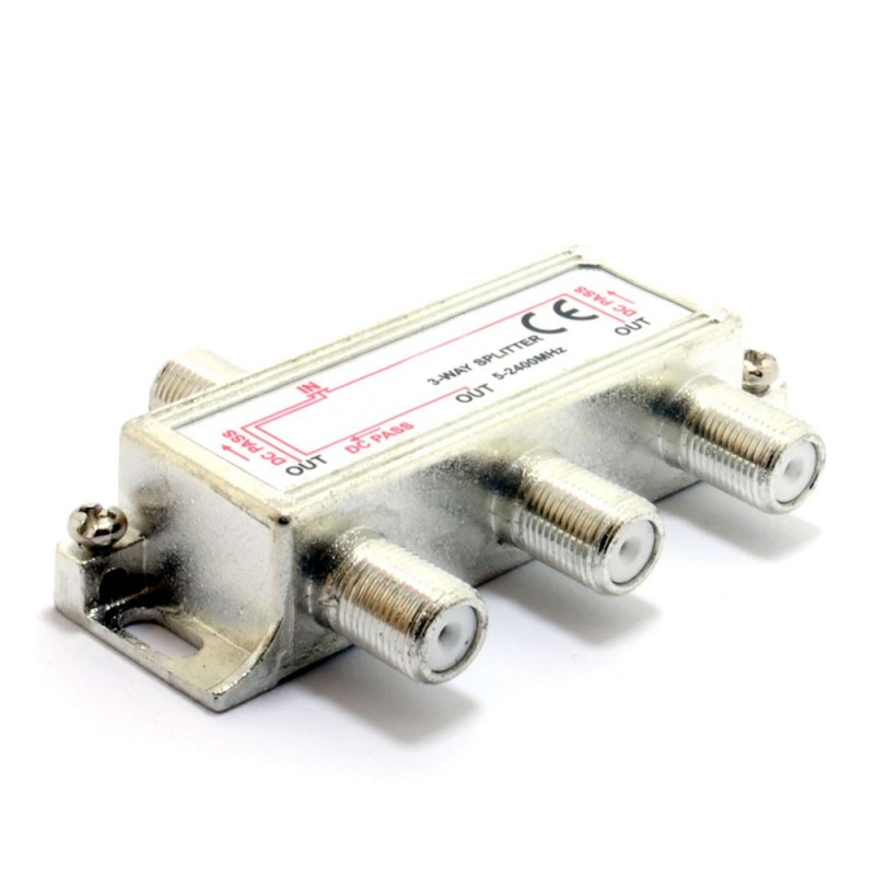 F-Type Screw Connector Splitter For Virgin Cable 3 way 2.4G
