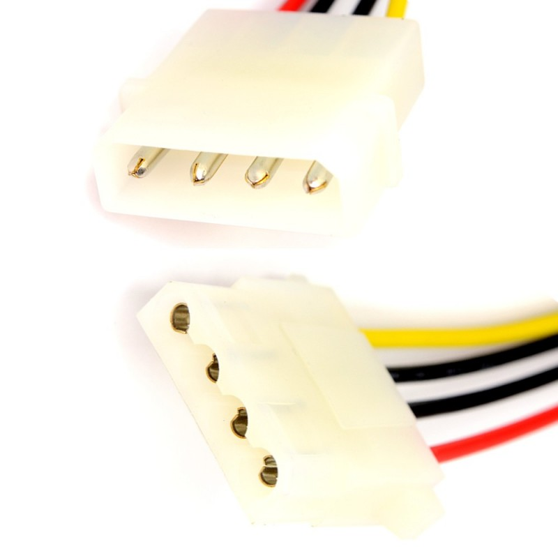 Power Extension Cable 4 pin LP4 Molex Male to Female 12cm