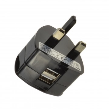 Dual USB UK Mains Wall Charger for Tablet Mobile Phone 2.1A 5V