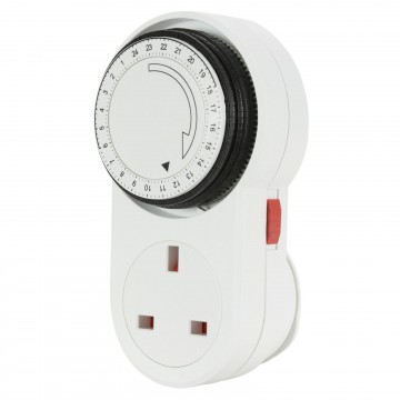 Mercury 24 Hour UK Mains Timer Switch 240 Volts 13 Amps