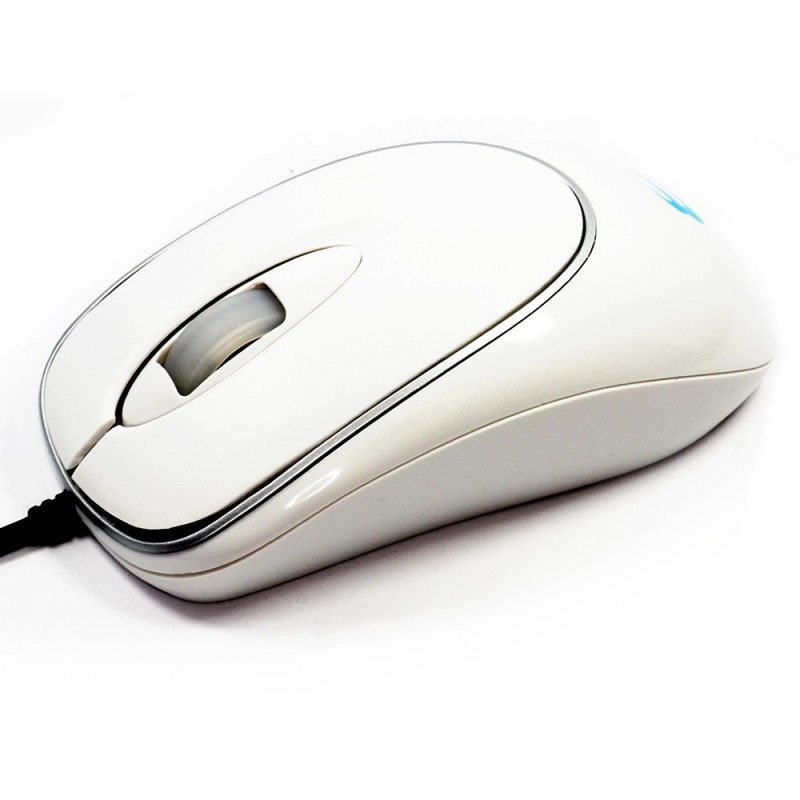 Computer Gear USB 2.0 or PS2 3 Button Scroll Wheel White Optical Mouse