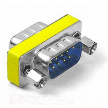 Gender Changer 9 pin Male to Male Serial Coupler RS232 Adapter
