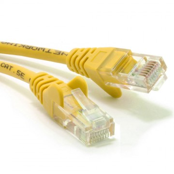 Yellow Network Ethernet RJ45 Cat5E-CCA UTP PATCH 26AWG Cable Lead  1m