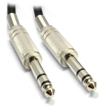 High Quality Stereo Jack 6.35mm METAL Plug to Plug Cable Lead...