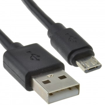 USB A To MICRO B Shielded FAST CHARGE Cable 0.15m 15cm Lead BLACK