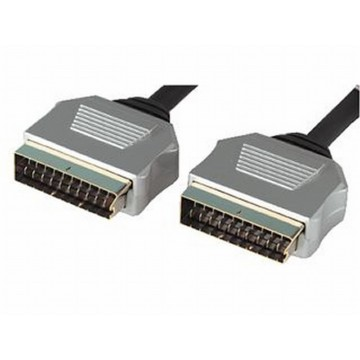 Pure OFC HQ Scart Cable ROUND Lead Metal Ends 10m