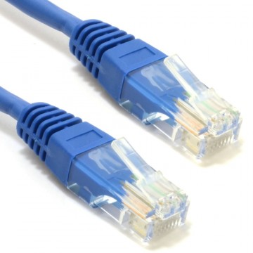 Blue Network Ethernet RJ45 Cat5E-CCA UTP PATCH 26AWG Cable...