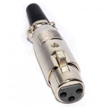 XLR Female Socket Connector Plug with Cable Protector