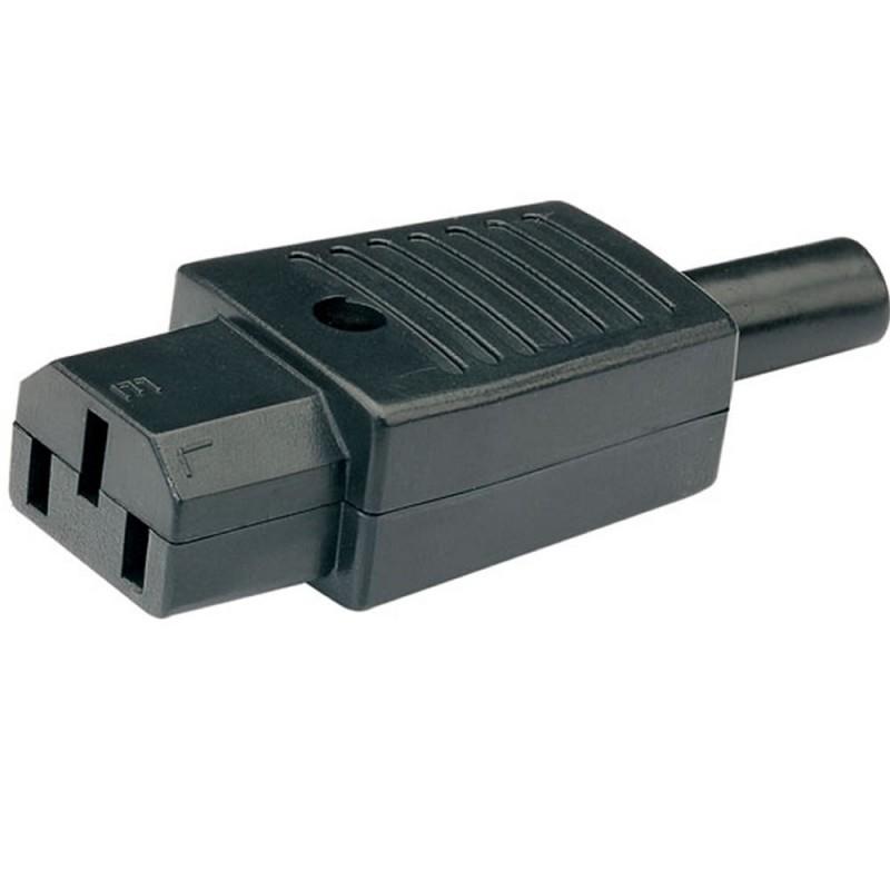 3 Pin IEC C13 Female In-Line Socket Terminal 250v 6 Amp 6A
