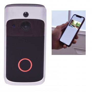 Smart HD Video Wireless WI-FI Doorbell & Mic Android Phone/IOS Device