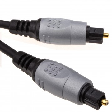 TOS Link TOSLink Optical Digital Audio Cable 4mm Lead  1m