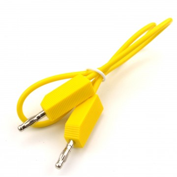 Pro Signal 4mm Plug to 4mm Plug MultiMeter Test Lead 0.5m YELLOW