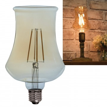 L115 LED Filament Bulb 4W Vase Shape Warm Glow Decor Light...