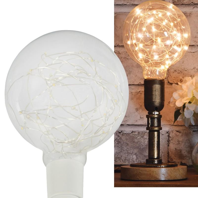 G125 Copper Wire LED Filament Decor Light Bulb Warm White 2W E27