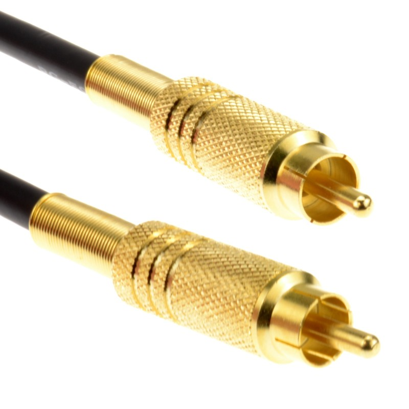Superior Quality Shielded Phono Low Loss HD SPDIF Audio Video Cable 1m