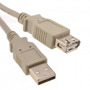 USB 2.0 HQ Shielded Extension Cable A to A Female Lead  0.5m 50cm