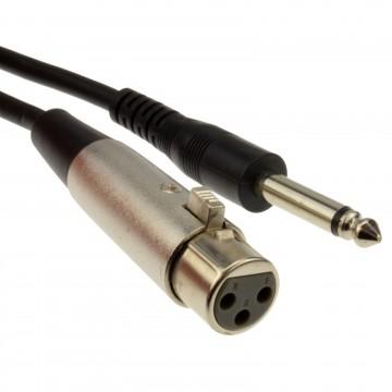 6.35mm Mono Jack Plug to XLR Socket Microphone Cable 3m