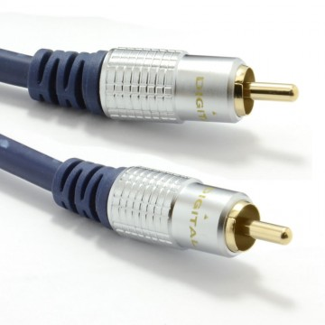 Pure HQ OFC SPDIF Digital Audio 75Ohm Subwoofer Cable Gold  5m