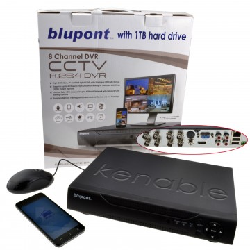 8 Channel DVR CCTV AHD Recorder Supports Android or IOS with...