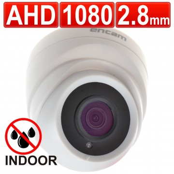 encam CCTV AHD 2MP 1080P FULL HD 2.8mm INDOOR Dome Camera White
