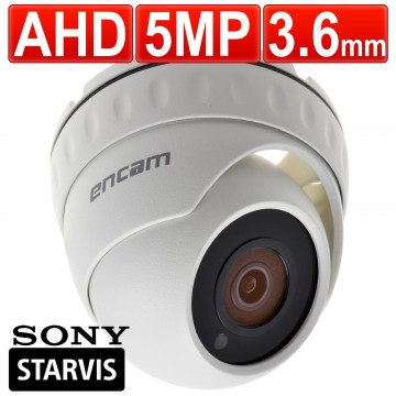 CCTV AHD 5MP 3.6mm SONY Starvis Starlight Dome Camera White