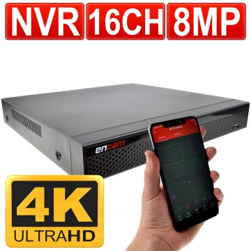 NVR 4K 16 Channel H.265 CCTV Recorder for 8MP IP Cameras