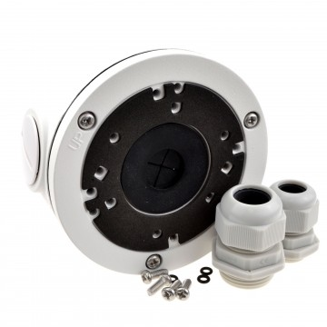 CCTV Universal Mounting Junction Box & Glands for Cameras White