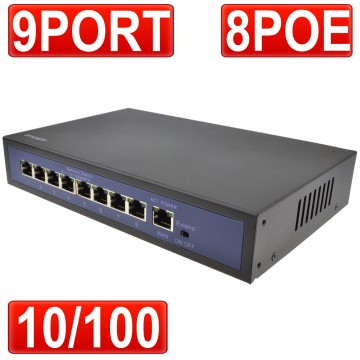 encam POE Switch 8 Power Over Ethernet & 1 x 10/100Mbps Port...